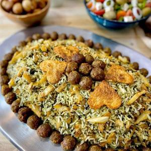 طرز تهیه کلم پلو شیرازی خوشمزه و مجلسی به روش سنتی