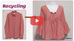آموزش تبدیل پیراهن به بلوز زیبای زنانه