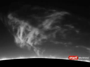 ابر توفانی و چرخان خورشید
