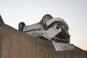 واژگونی خودرو پژو در جاده زبرخان به مشهد