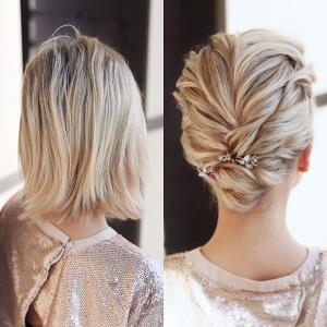 آموزش شنیون بسیار زیبا برای موهای کوتاه