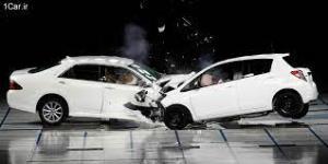 تصادف شدید دو ماشین سنگین و سه سواری در تونل