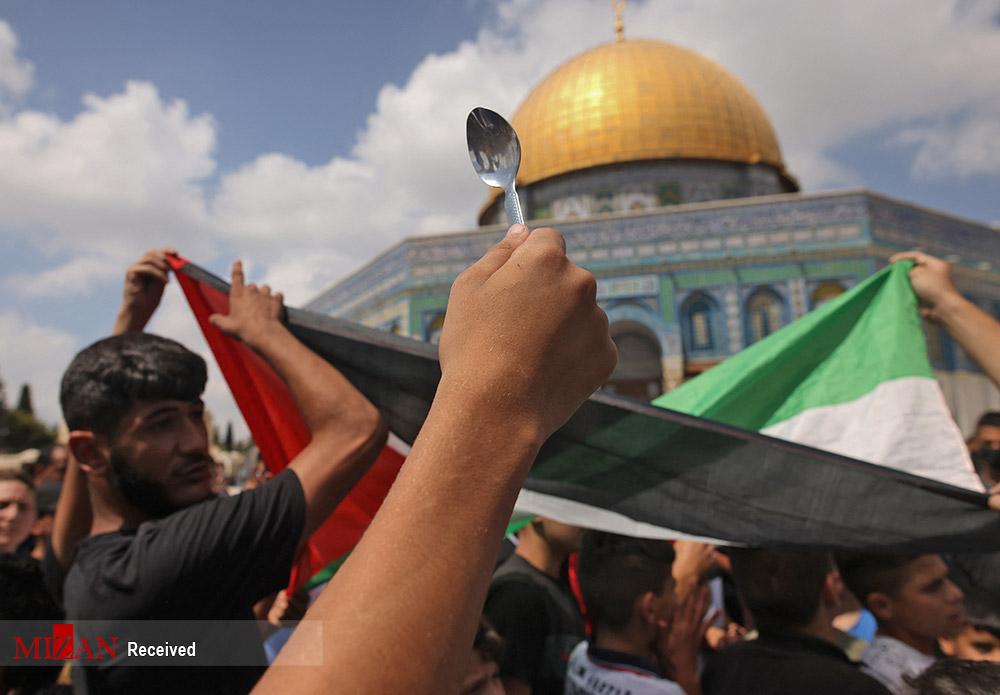 عکس/ قاشق نماد مبارزه در فلسطین