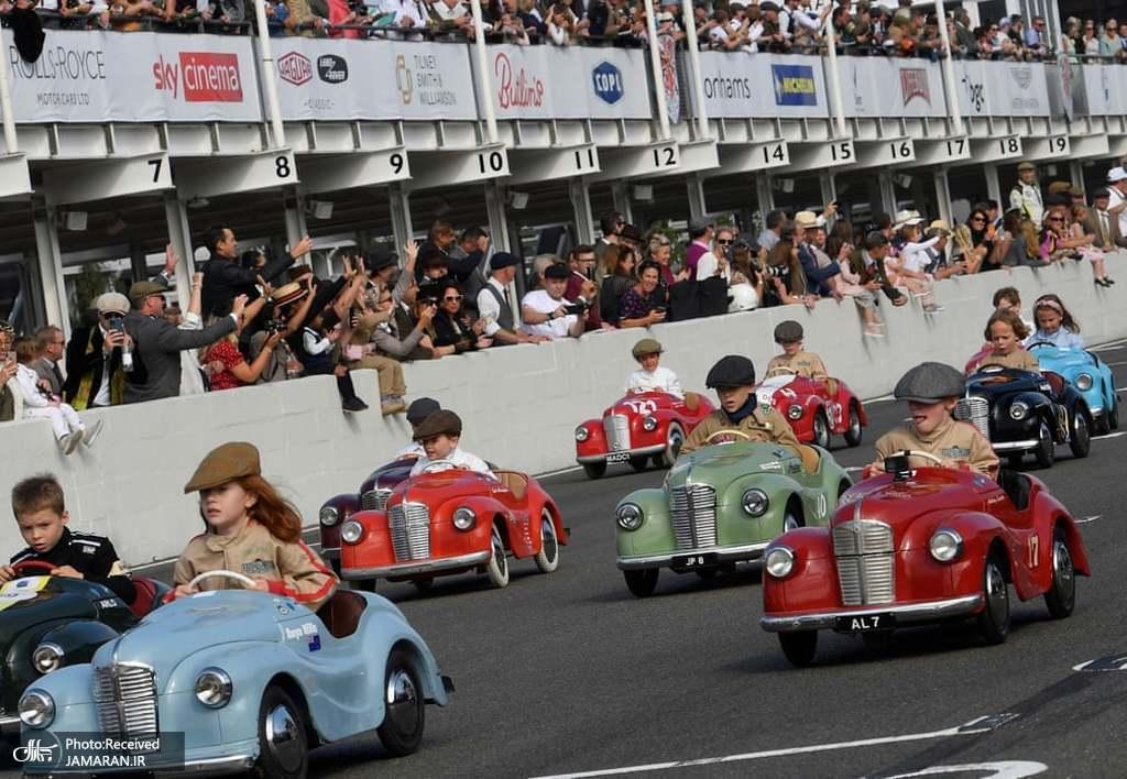 مسابقه خودروهای پدالی کودکان