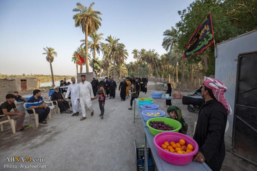 حضور زائرین اربعین حسینی در استان «سماوه» عراق