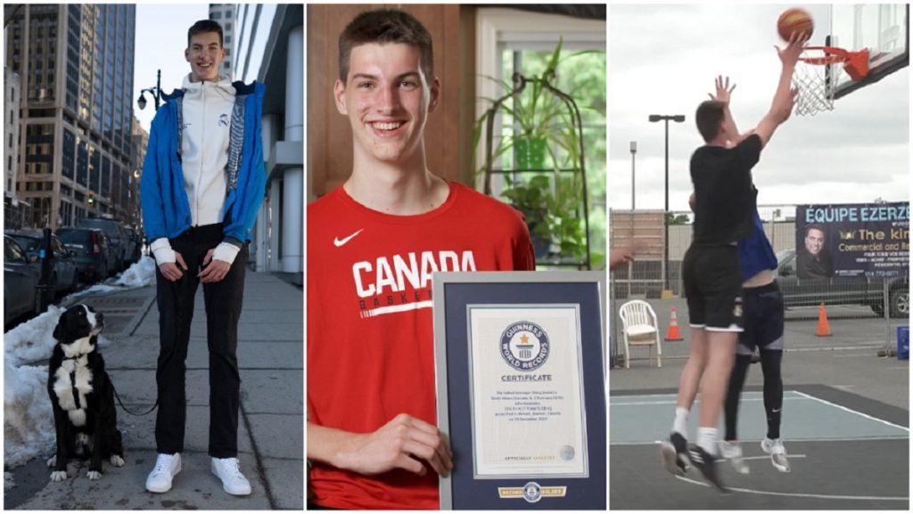 پسر کانادایی قدبلندترین نوجوان جهان شد