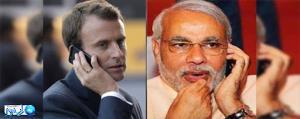 مذاکره تلفنی ماکرون و نخست وزیر هند بر سر همکاری های دوجانبه