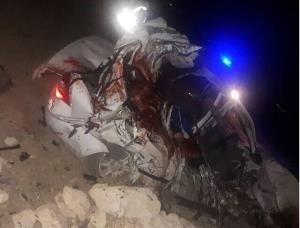 تصادف خونین تیبا و کامیون در محور ساوه-بوئینزهرا