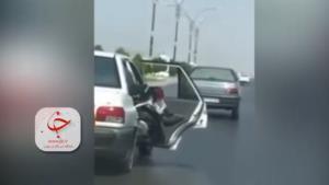 اقدام خطرناک راننده پراید در بوشهر