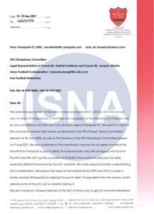 نامه پرسپولیس به فیفا و AFC درباره کالدرون!