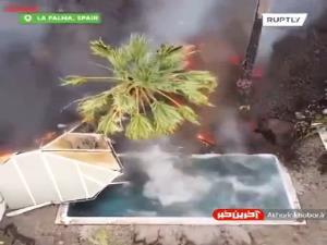 گدازههای آتشفشان خانههای جزایر قناری را بلعید