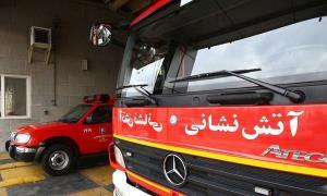 پاساژی در امامزاده حسن(ع) تهران آتش گرفت