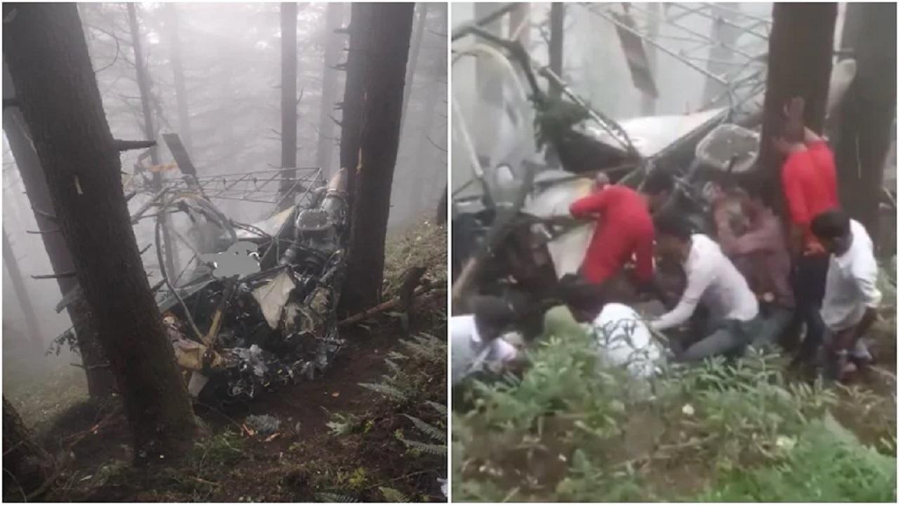 یک فروند بالگرد نیروی زمینی هند دچار حادثه شد