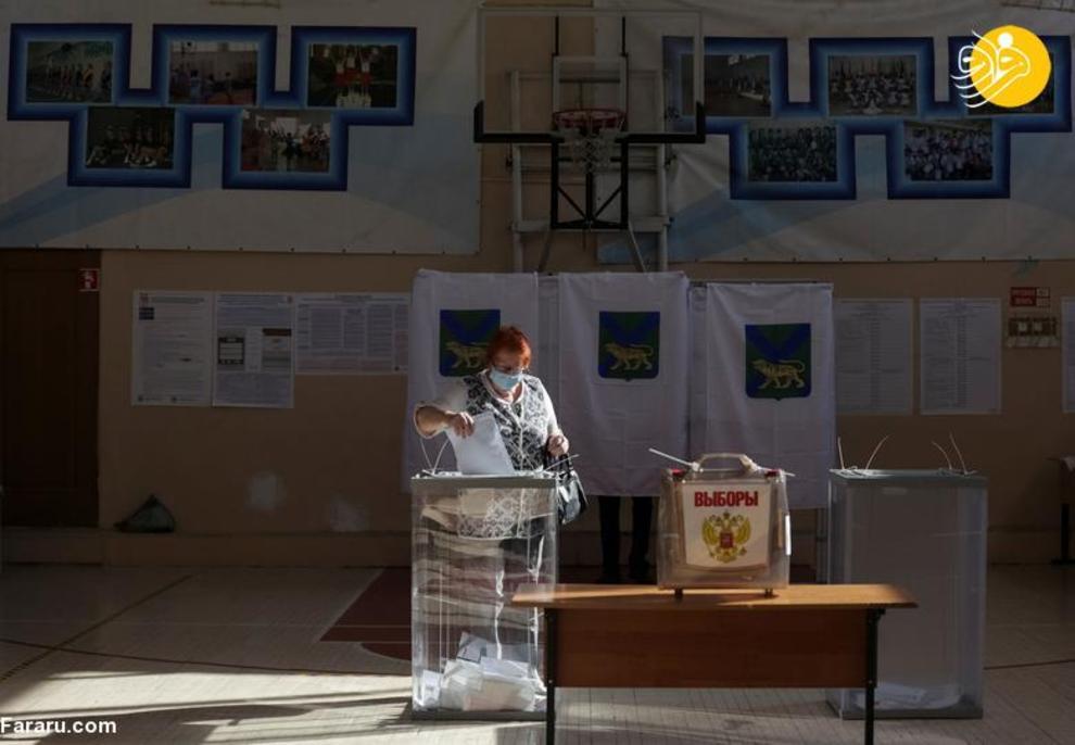 عکس/ ادعای تقلب در نتایج انتخابات روسیه!