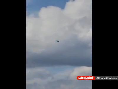 رهگیری یک هواپیمای نظامی بر فراز ساختمان سازمان ملل
