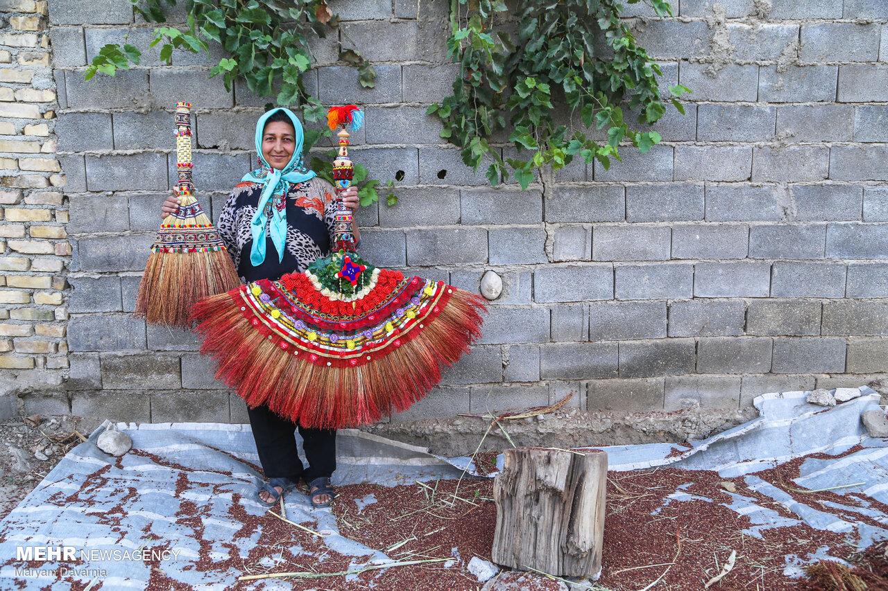 هنر سنتی جاروبافی در خراسان شمالی