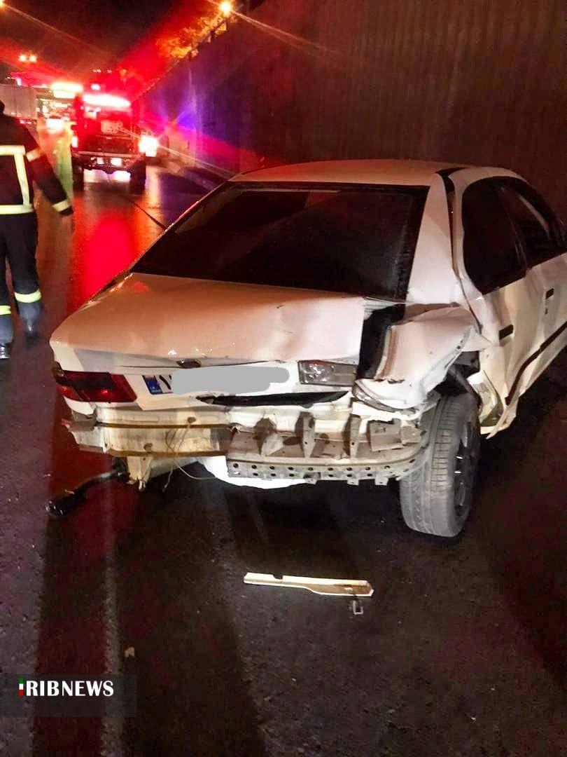 تصادف ۳ خودرو در بزرگراه خرازی اصفهان