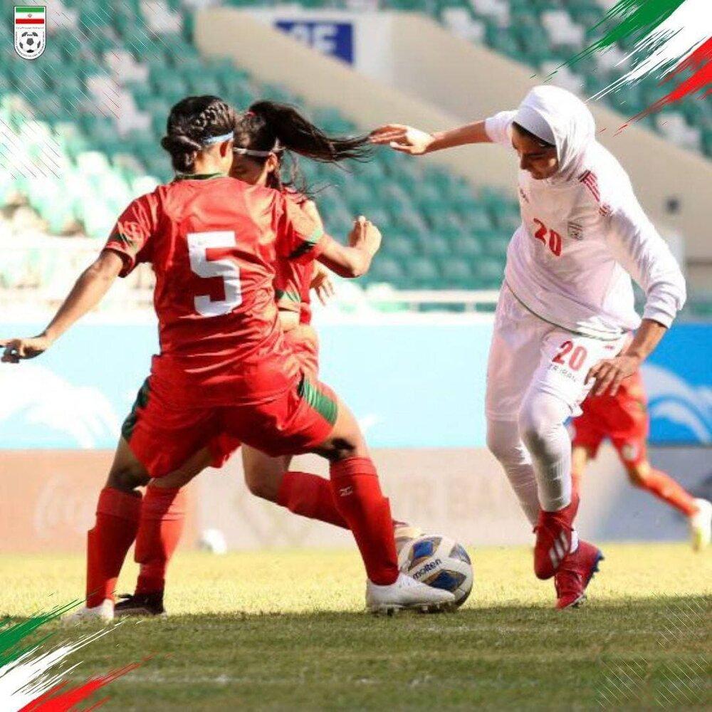 پیروزی پر گل دختران ایران مقابل بنگلادش به روایت تصویر
