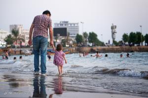 شنا و آبتنی در آخرین روزهای تابستان بوشهر