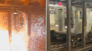 انفجار در مترو به دلیل انداختن دوچرخه روی ریل