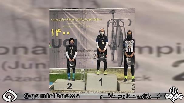کسب  ۳ مدال رقابتهای قهرمانی کشور توسط بانوی دوچرخه سوار قمی