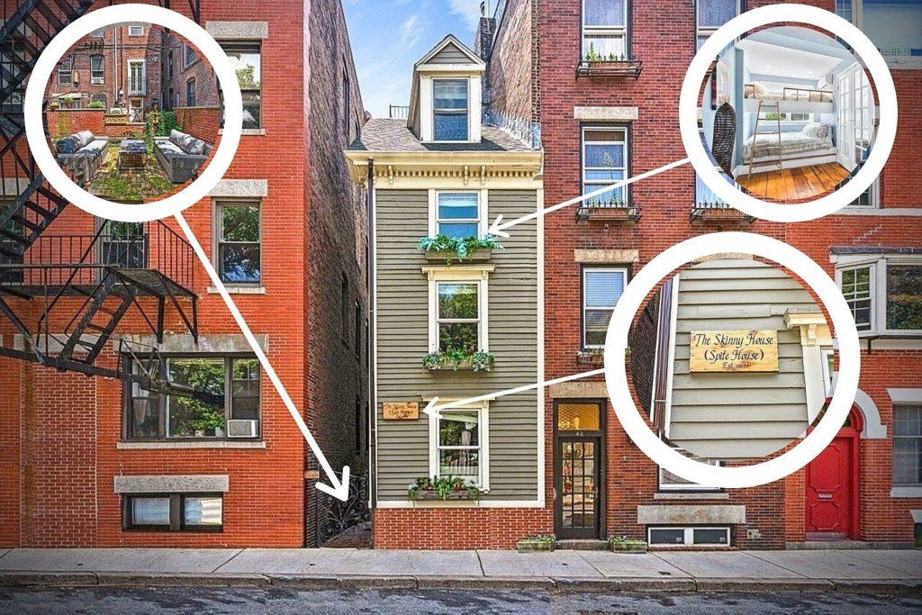 فروش باریک ترین خانه شهر بوستون به قیمت ۱.۲ میلیون دلار