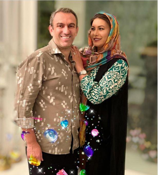 چهره ها/ پست عاشقانه فریبا نادری برای همسرش