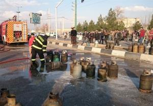 انفجار کارگاه شارژ سیلندر گاز در شیراز؛ سوختگی 3 کارگر