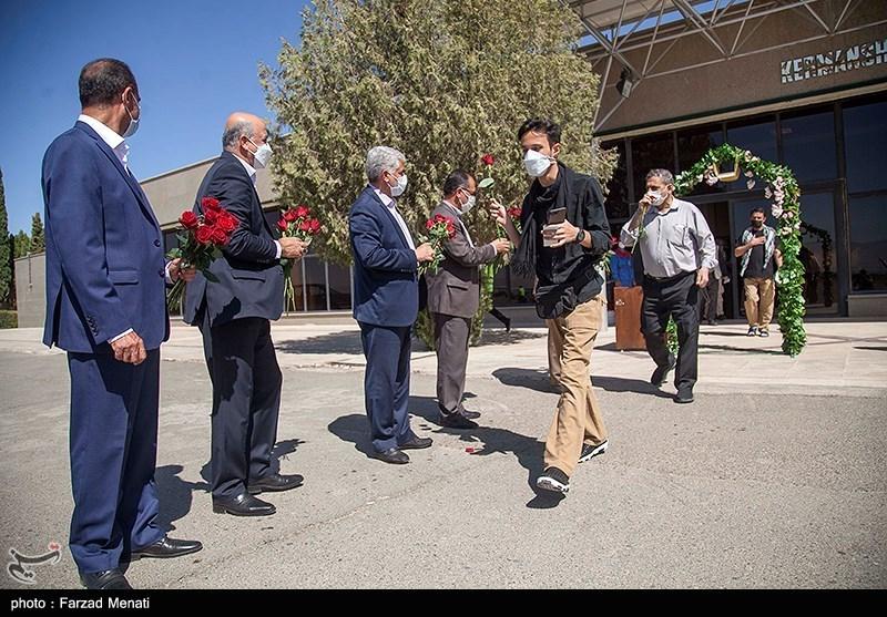 عکس/ اعزام نخستین کاروان زوار کربلا از فرودگاه کرمانشاه