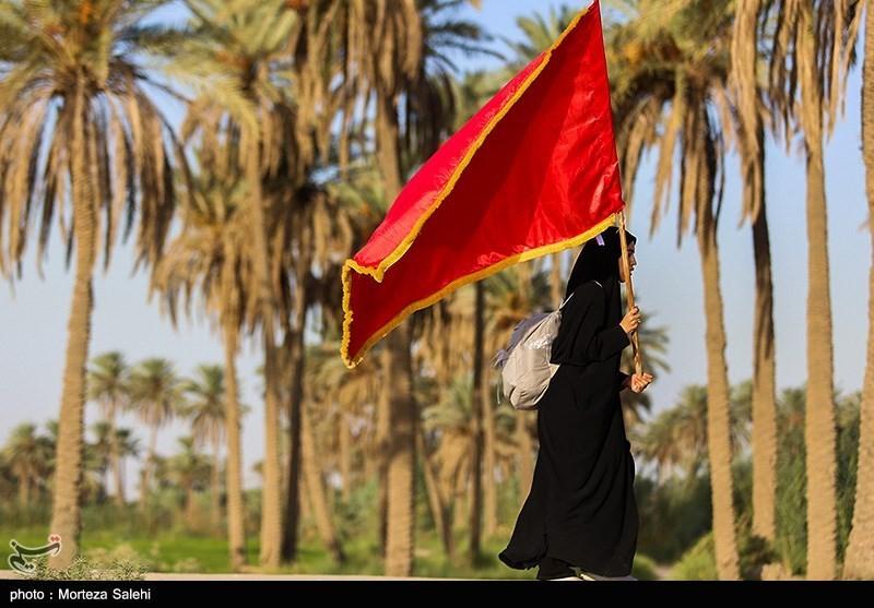عکس/ پیاده روی اربعین حسینی در کنار رود فرات