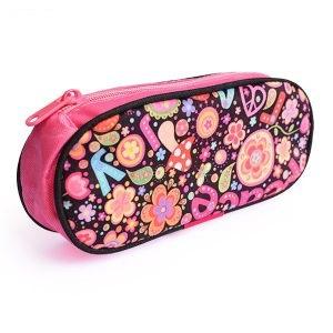کیف استوانه ای گلدار با یک زیپ بدوزید