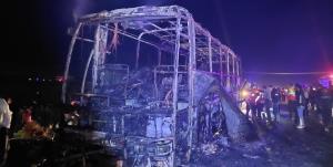 جزئیات آتش گرفتن اتوبوس مسافربری در جاده اهر- تبریز