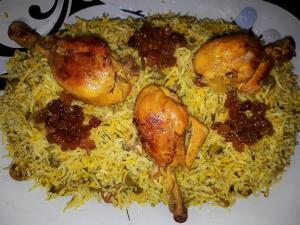 غذایی راحت و لذیذ با برنج و مرغ
