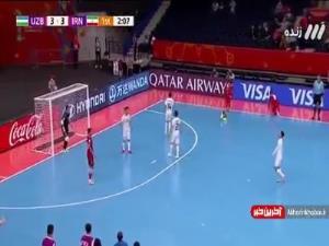جام جهانی فوتسال/ گل چهارم ایران به ازبکستان توسط فرهاد توکلی