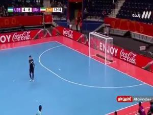 جام جهانی فوتسال/ گل هفتم ایران به ازبکستان