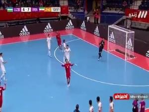 جام جهانی فوتسال/ گل هشتم ایران به ازبکستان