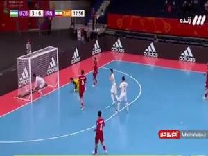 جام جهانی فوتسال/ گل چهارم ازبکستان به ایران