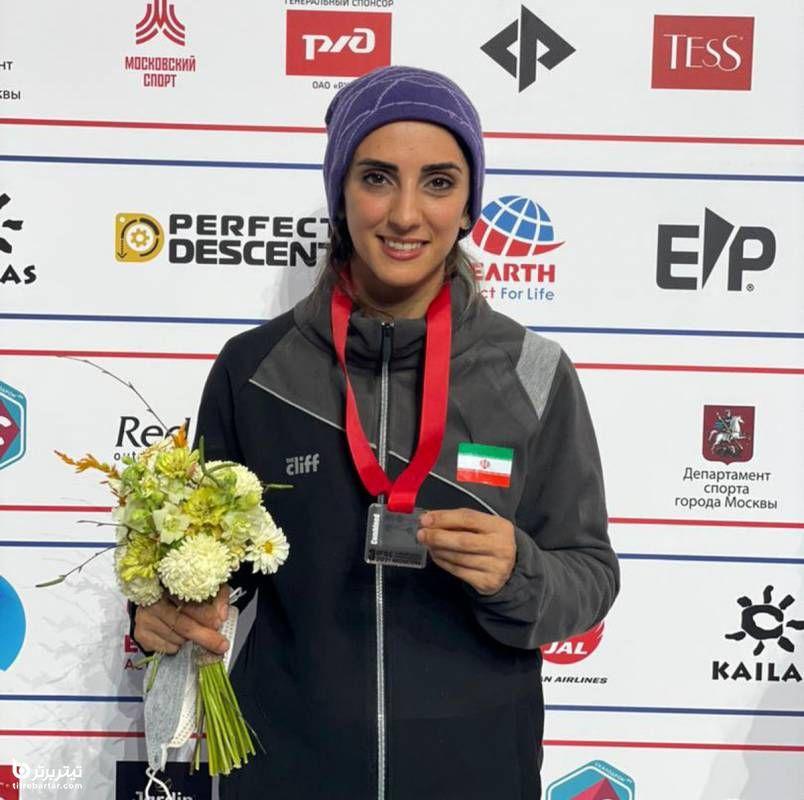 اولین بانوی مدالآور سنگنوردی ایران در جهان: با همه محدودیتها خودم را به اینجا رساندم