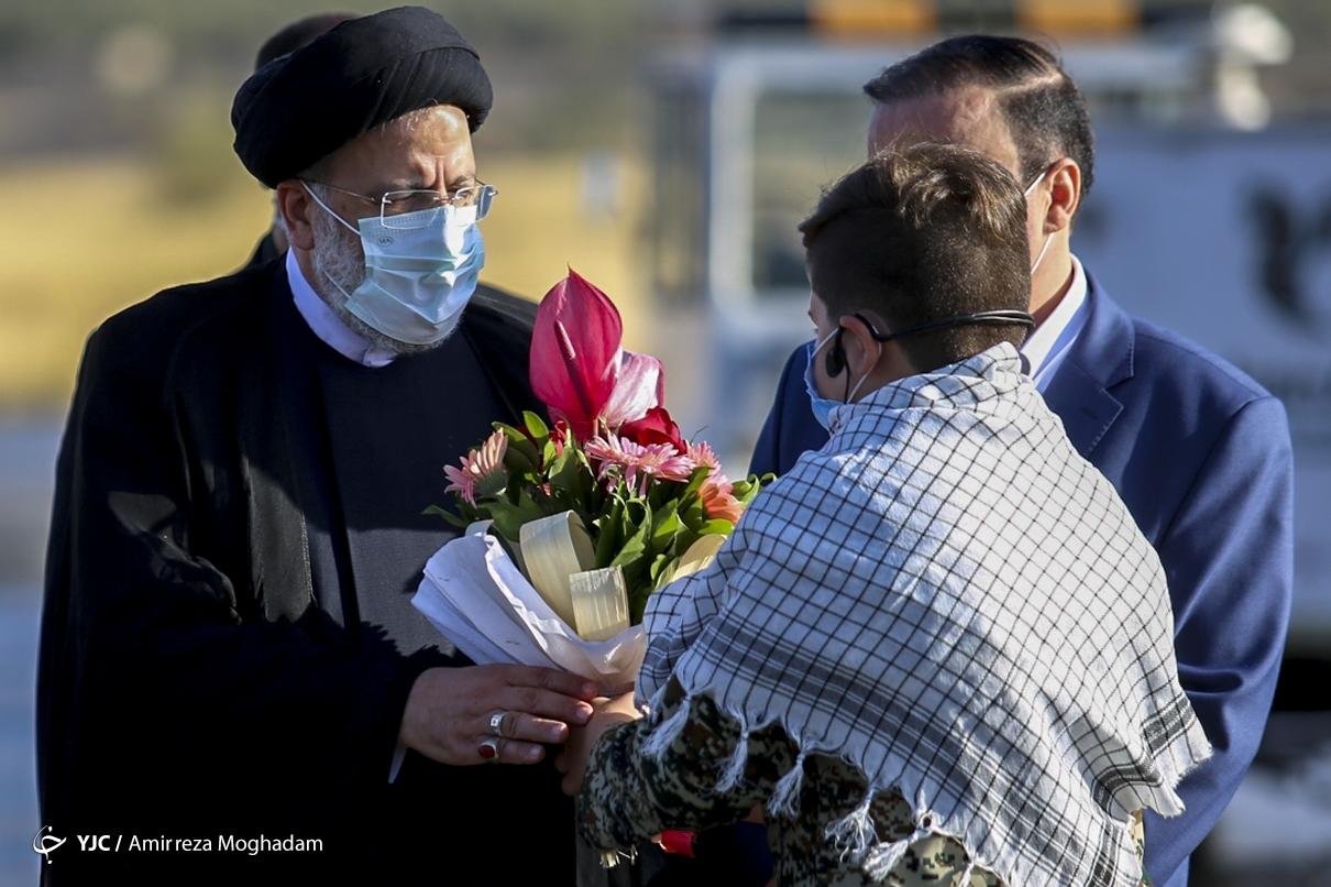 عکس/ ورود رئیسجمهور به استان ایلام