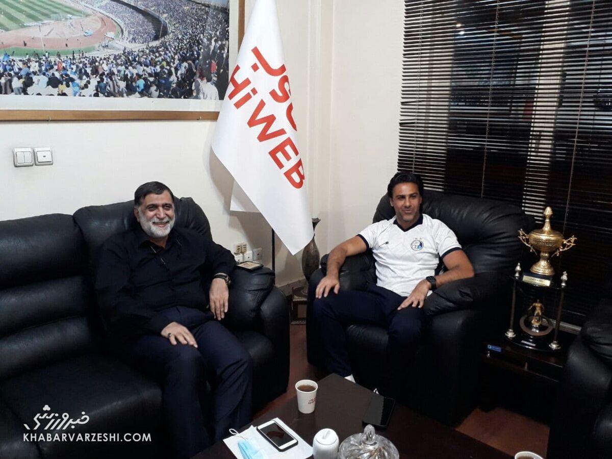چهره خندان مجیدی در جلسه با مدیر عامل جدید استقلال