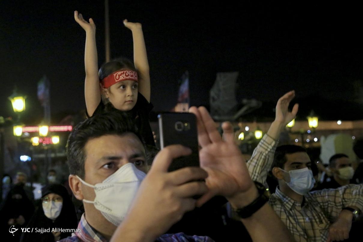 عکس/ مراسم جاماندگان اربعین حسینی با مداحی پویانفر