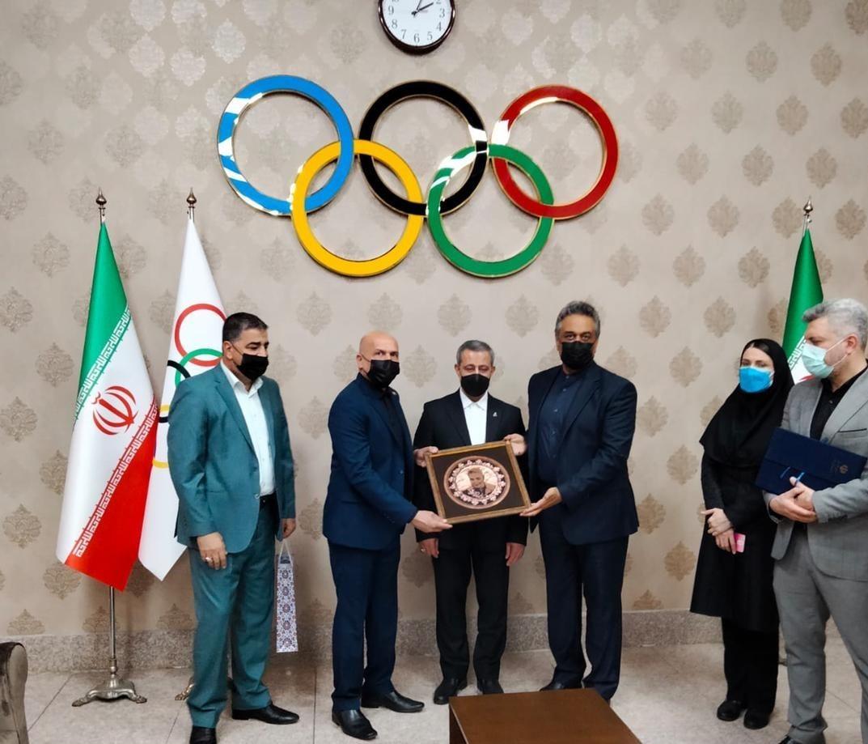 دیدار رئیس فدراسیون اسکواش عراق با دبیر کل کمیته ملی المپیک