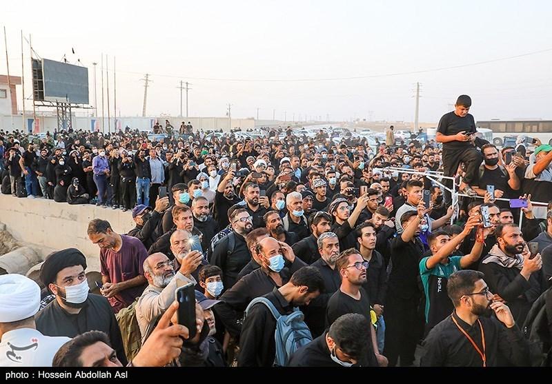 عکس/ تجمع زائران در مرز شلمچه با شایعات فضای مجازی