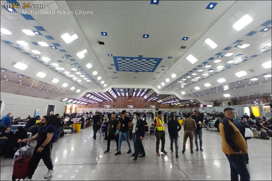 عکس/ حال و هوای فرودگاه نجف در ایام زیارت اربعین