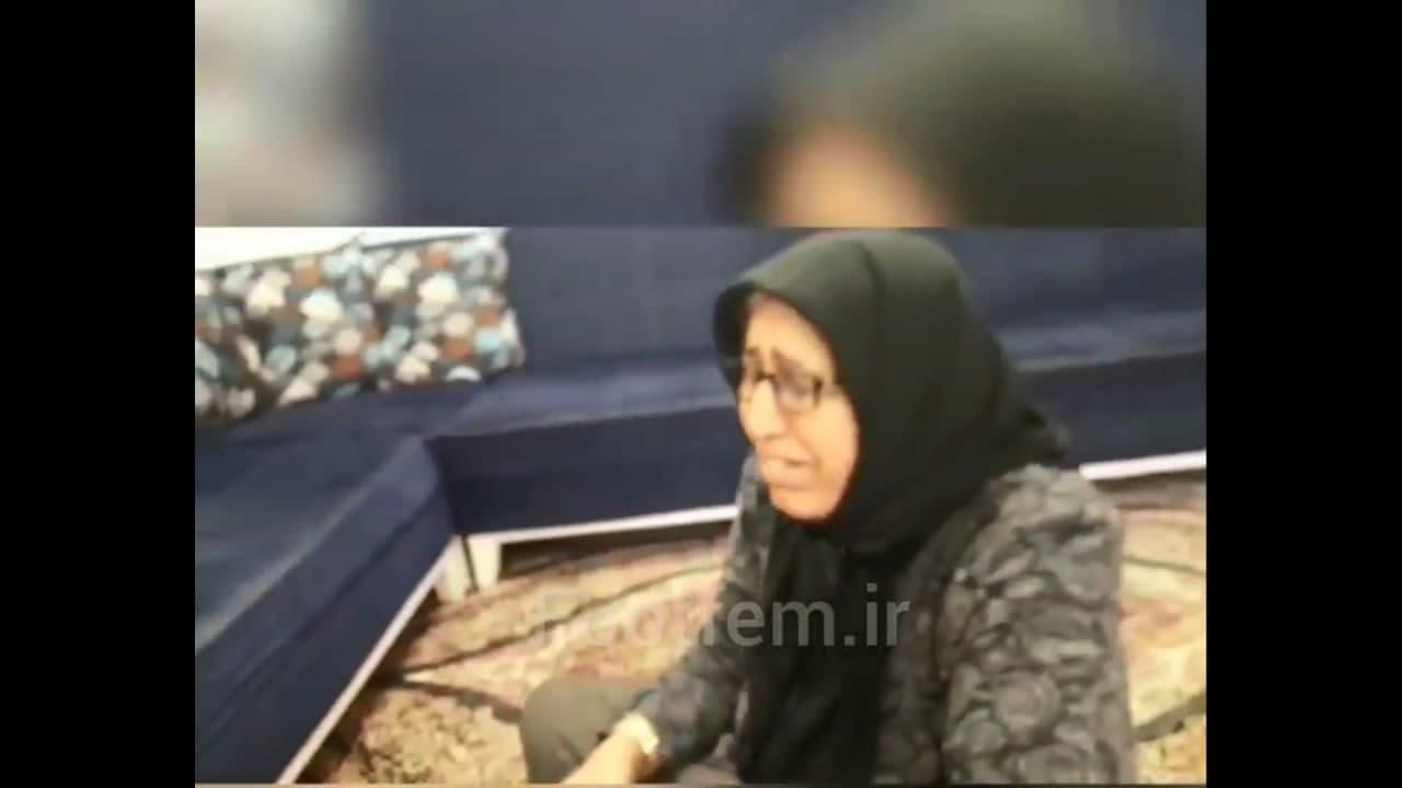 چشمان اشکبار مادر قهرمان امروز فوتبال ایران