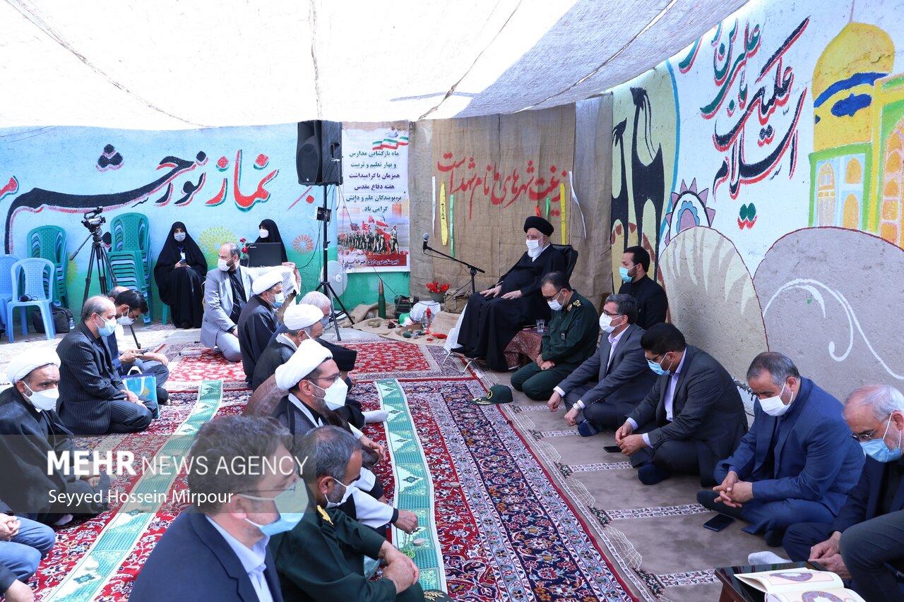 آغاز سال تحصیلی در روستای اسماعیل آباد مشهد با حضور علم الهدی