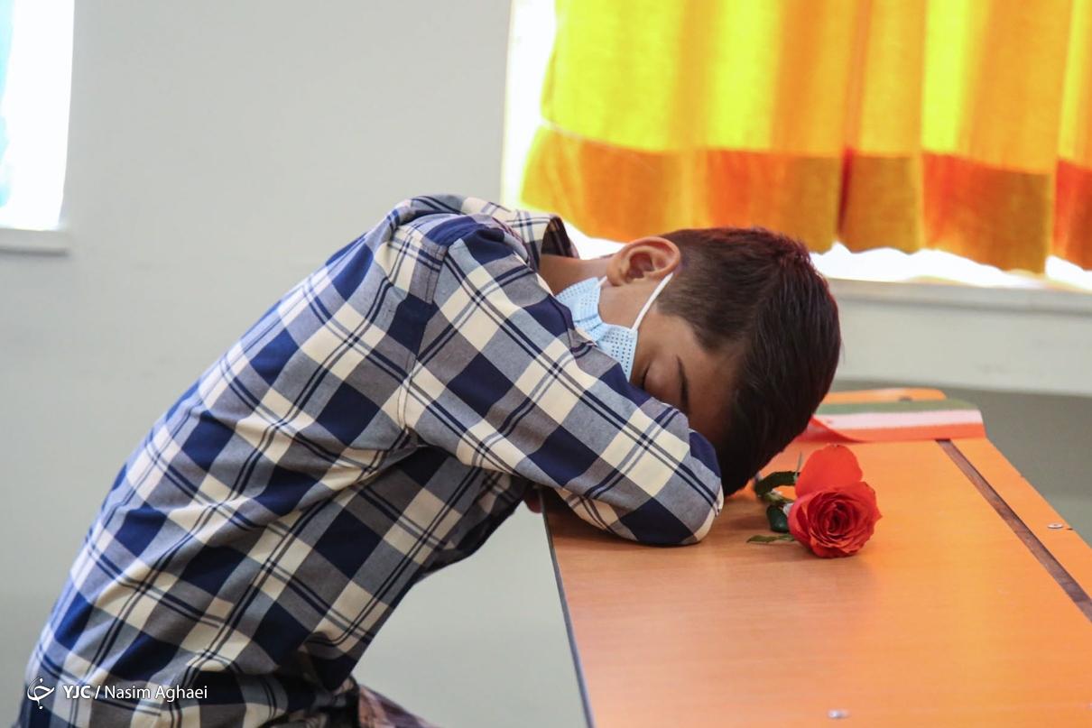 عکس/ خواب خوش در اولین روز مدرسه