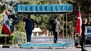 دیدار روسای ستاد ارتشهای ترکیه و لبنان در آنکارا