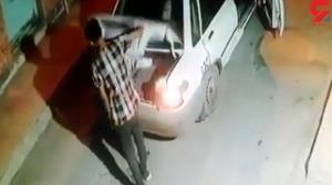 لحظه سرقت دریچه فاضلاب در خوزستان