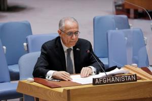 سفیر دولت اشرف غنی در مجمع عمومی سازمان ملل سخنرانی می کند